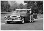 Neal Wellins with Mark's 1955 Chrysler.  Taken in 1959.