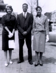 Sunday morning church time -- Joanne (Chippy) and Cleo (Penny) Walker with fine little Jerry Jackson.