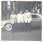 Neal Wellins, Mark Levin, and Hank Rosen going to the senior prom 1961.