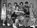Class Day 1961.  Left to righ in back: Beverly Monde, Dorothy Neri, Pat Jordan, Theresa Carrozza,Jackie Barone, and Caro