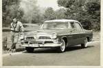 Mark Levin and his dad's 1955 Chrysler.  Taken in 1959.